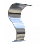 "CASCADA ACERO INOX. ARRECIFE 47 (ANCHO 35CM) RM 1 1/2"""