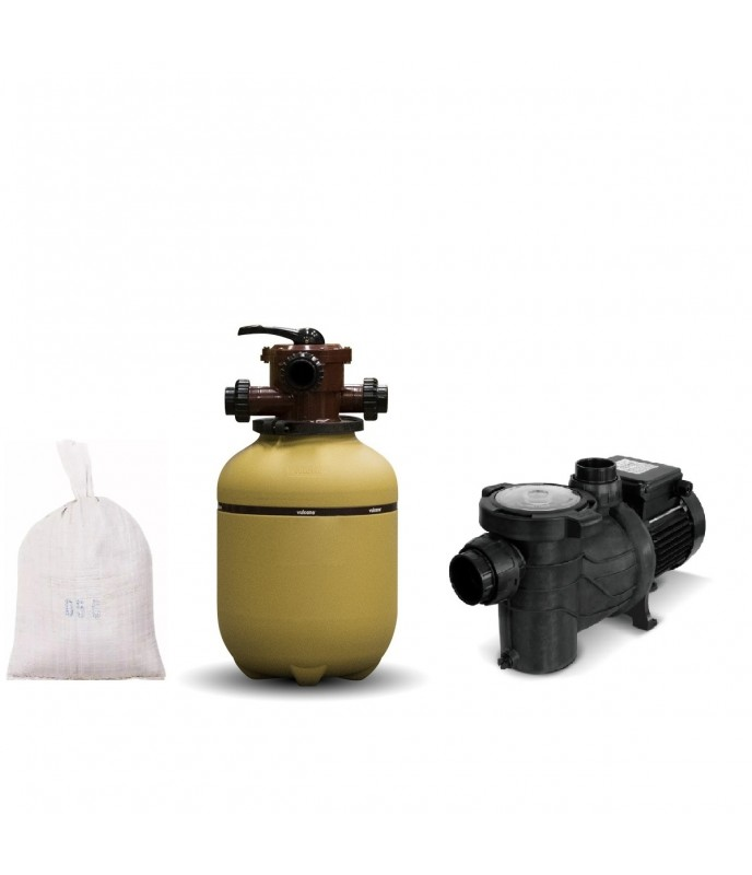 Filtro Vc 30 mas Bomba 1-2 Hp Bas 050 mas Carga, Marca Vulcano