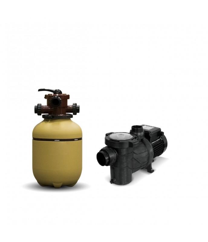 Filtro Vulcano Vc 10 Mas Bomba 1-3 Hp Bas Marca Vulcano