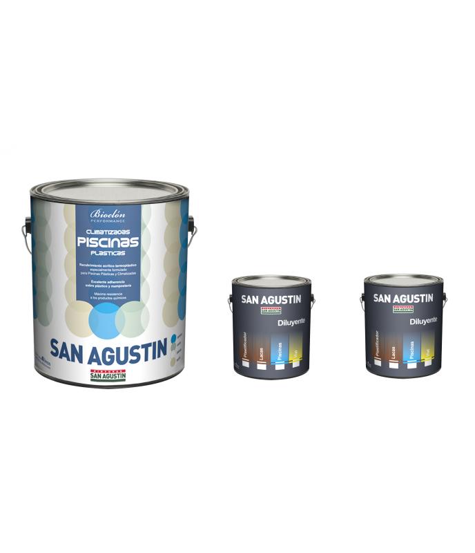 Pintura Para Pileta De Fibra X 4 L + 2 L Diluyente San Agustín