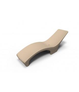 Reposeras Beige Plásticas Rotomoldeada Ideal Solarium Para Pileta