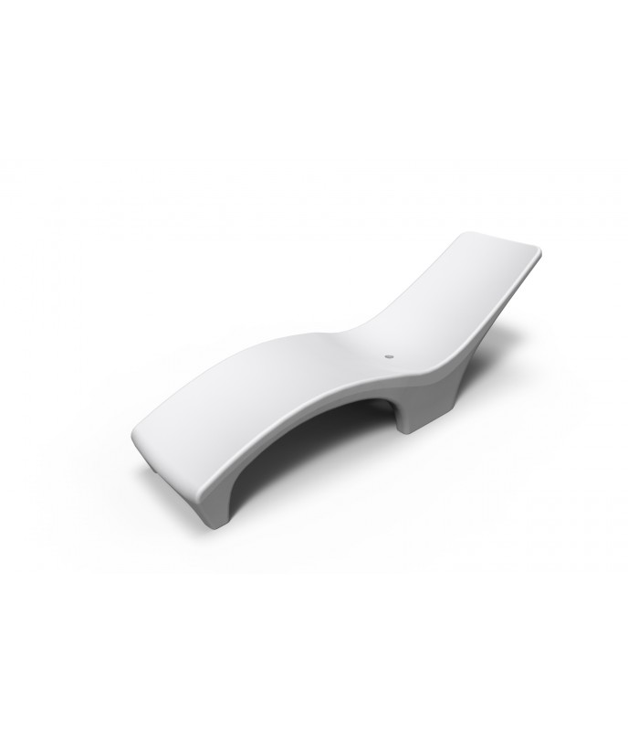 Reposeras Blanca Plásticas Rotomoldeada Ideal Solarium Para Pileta
