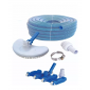 Kit - Limpiafondo cepillo + limpiafondo c/ruedas +Manguera 10m + Acople + Abrazadera